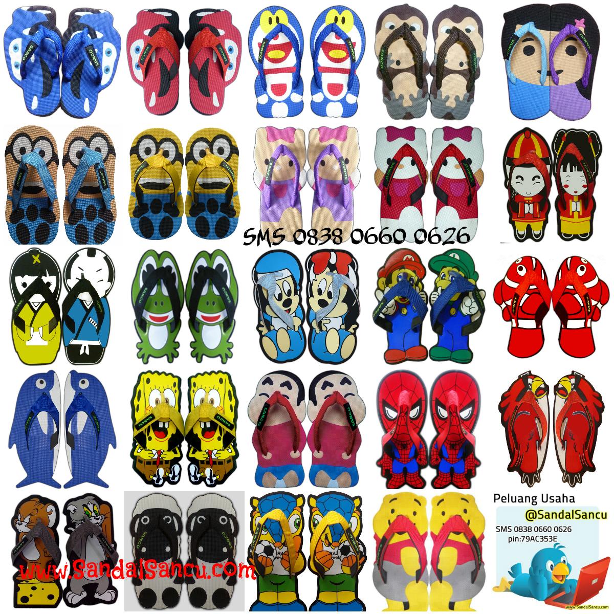 Gambar Model Sandal Lucu Jual Sandal SANCU Murah WA 0812 9499 1685