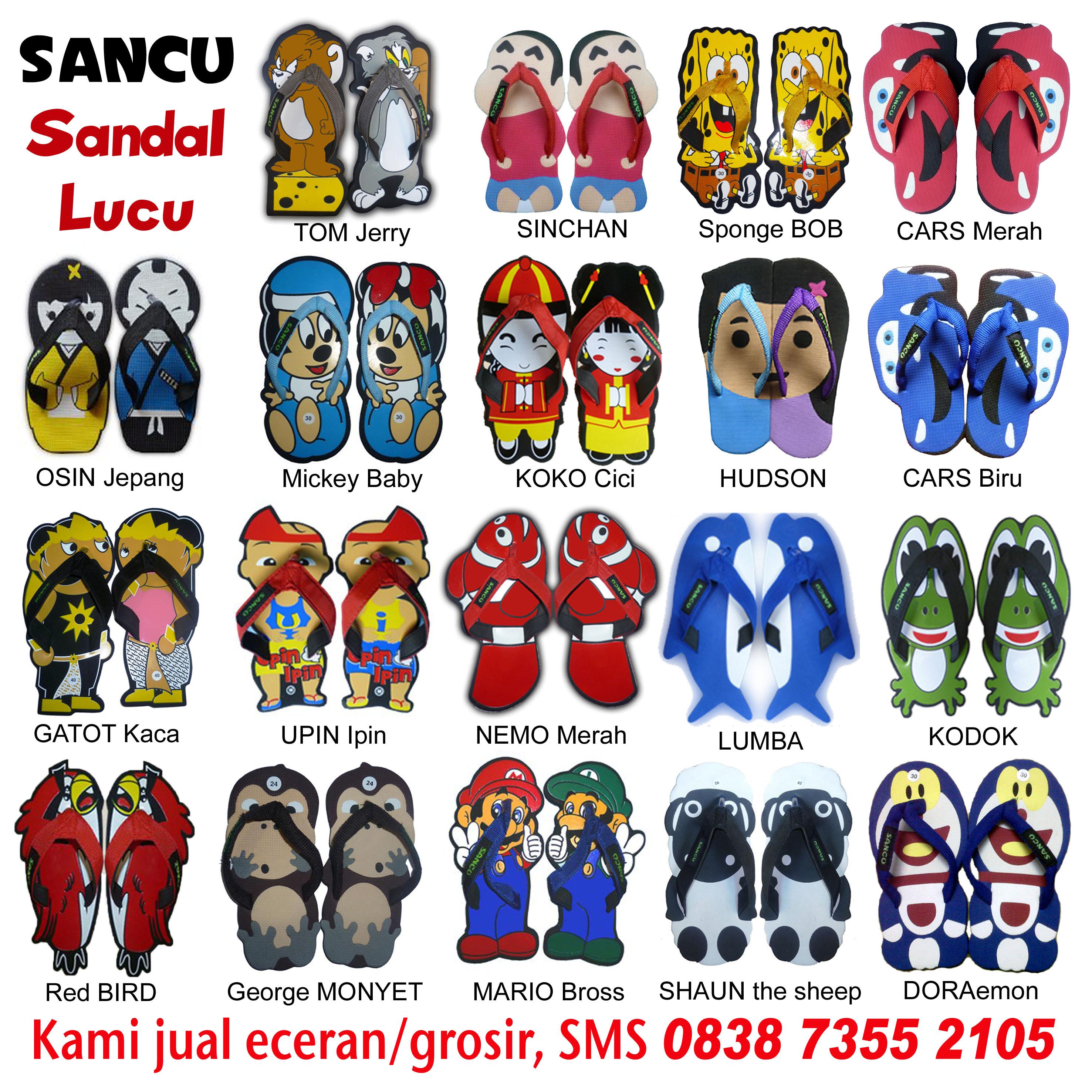 Lucu Jual Sandal SANCU Murah WA 0812 9499 1685