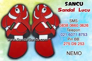 Jual Sandal Sandal Lucu Model Nemo Merah