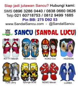 pabrik sancu sandal lucu murah di sidoarjo