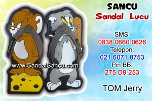 Jual sandal sandal lucu model Tom Jerry