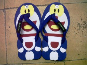 Jual Sandal Sandal Lucu Model Doraemon