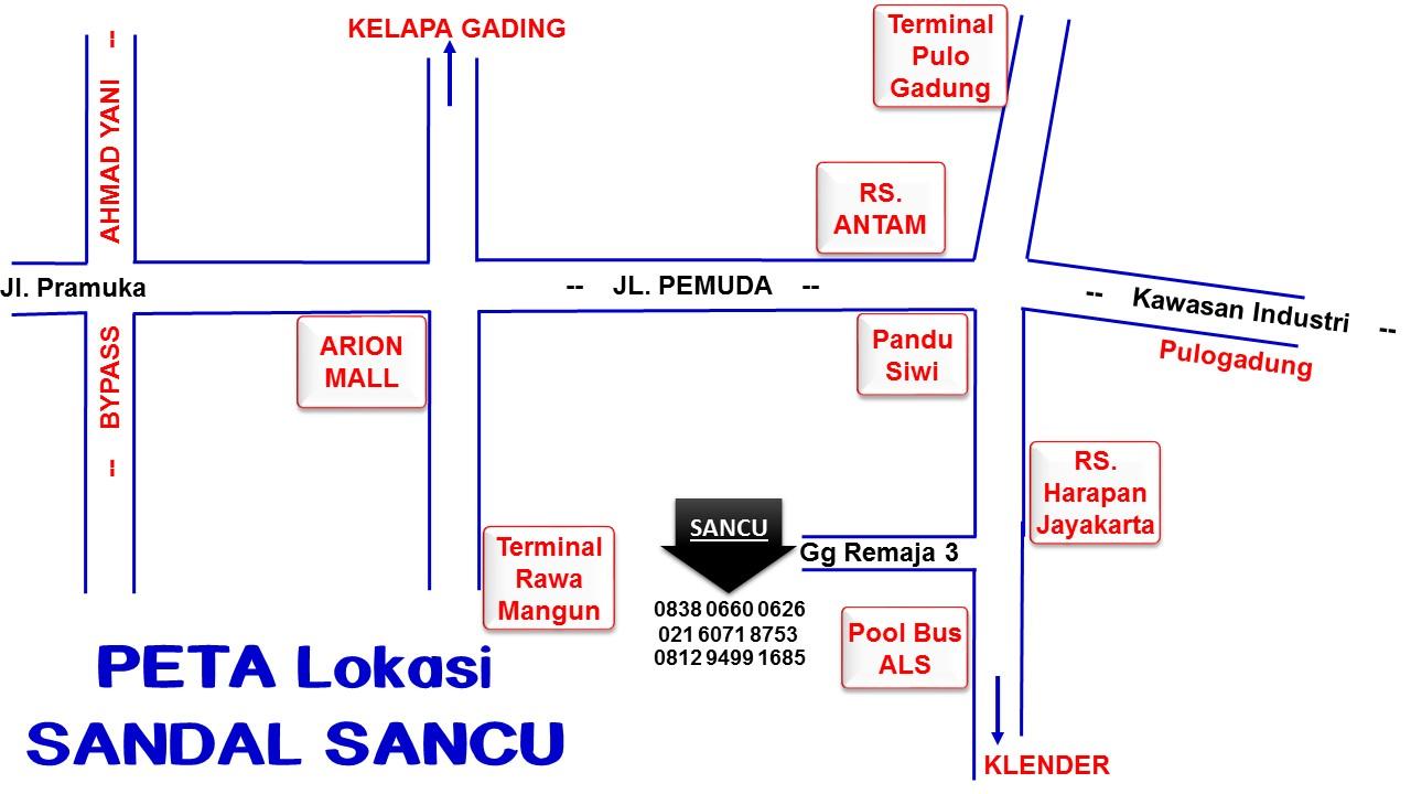 Peta Pusat Sandal Sancu Murah