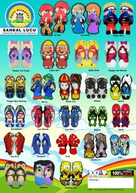 jual sandal sandal lucu model boboiboy