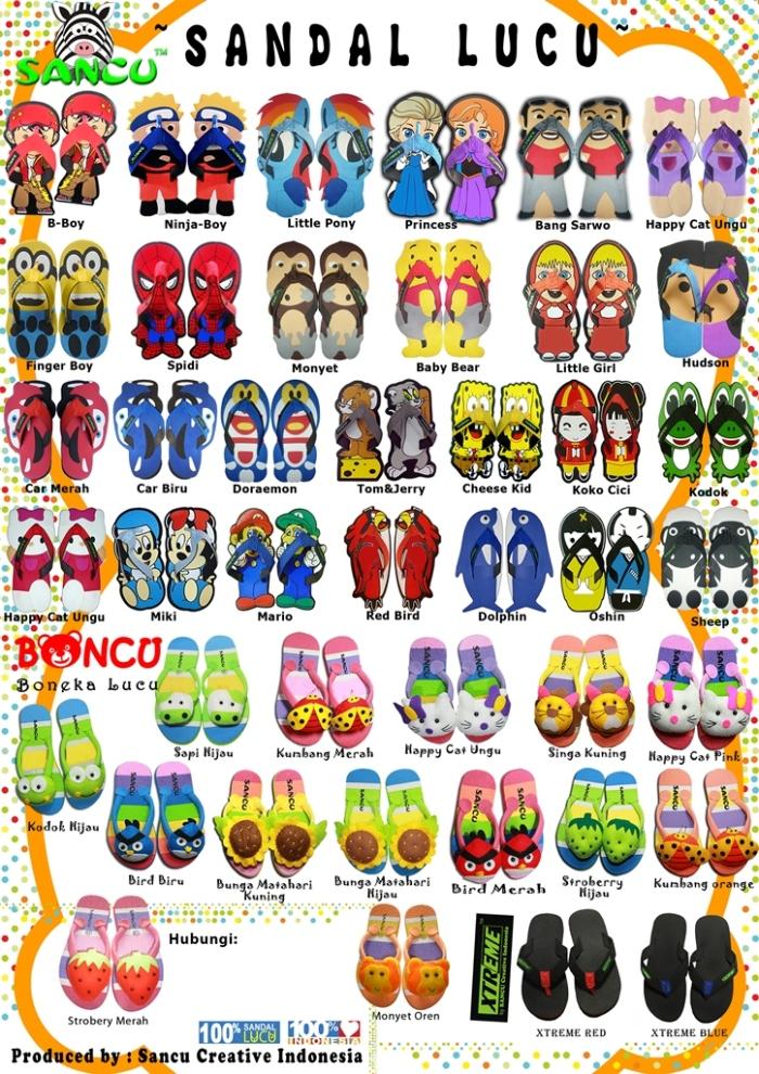 Brosur Sandal Sancu dan Sandal Extreme