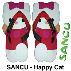 Sticker-@SandalSancu-Happycat-Putih