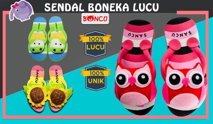 Banner Sandal Boncu Boneka Lucu